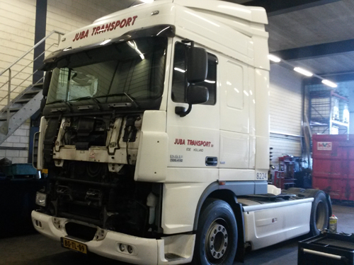 Juba Transport bij A30 truckservice schadeherstel